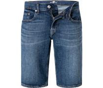 Jeansshorts Regular Fit Baumwoll-Stretch