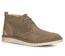 Herren Schuhe Desert Boots Veloursleder taupe