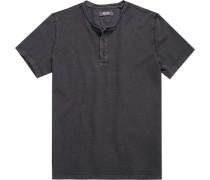 Herren T-Shirt Baumwolle anthrazit meliert grau