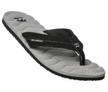 Herren Schuhe Zehensandalen Synthetik grau-schwarz