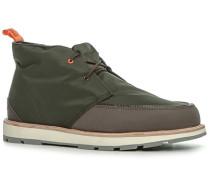 Herren Schuhe Desert Boots Microfaser-Gummi oliv-braun grün
