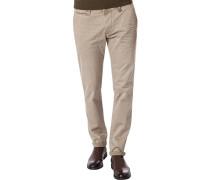 Herren Hose Chino, Modern Fit, Baumwoll-Stretch, beige