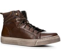 Herren Schuhe Sneaker, Rindleder, dunkelbraun