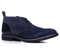 Herren Schuhe Desert Boots Veloursleder dunkelblau