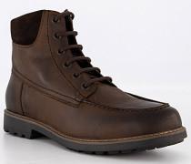 Schuhe Schnürboots Leder warmgefüttert dunkel