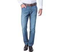 Herren Jeans Regular Fit Fairtrade Baumwoll-Stretch jeansblau