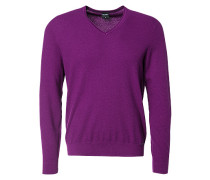 Herren Pullover, Modern Fit, Baumwolle-Wolle, mauve lila