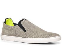 Herren Schuhe Slip Ons Veloursleder grau grau,gelb