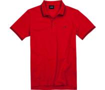 Herren Polo-Shirt, Baumwoll-Pique, rot
