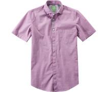 Herren Hemd Modern Fit Popeline mauve gemustert rosa