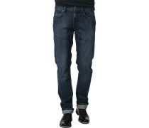 Herren Jeans Regular Fit Baumwoll-Stretch denim blau