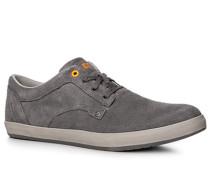 Herren Schuhe Sneaker, Veloursleder, grau