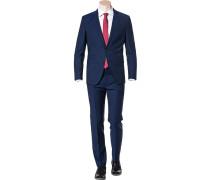Herren Anzug Regular Fit Schurwolle Super100 royalblau meliert