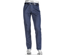 Herren Hose Regular Slim Fit Baumwoll-Stretch dunkel