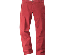 Herren Hose Chino Robin Regular Fit ziegel