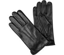 Herren Handschuhe, Haarschaf-Nappaleder, schwarz