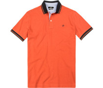 Herren Polo-Shirt, Baumwoll-Piqué, blutorange