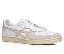 Herren Schuhe Sneakers Leder-Mix weiß-beige weiß,weiß