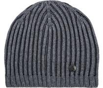Herren   Mütze Baumwollmix dunkelgrau