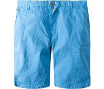 Herren Hose Bermudashorts Baumwolle azurblau