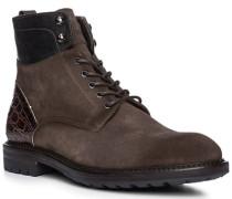 Schuhe Stiefeletten mit Reißverschluss, Veloursleder