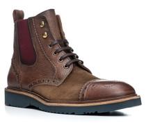 Herren Schuhe BRIX Leder-Mix braun