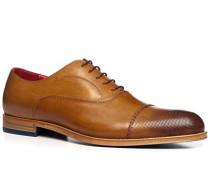 Herren Schuhe Oxford, Leder, cuoio braun