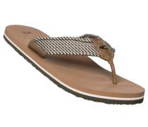 Schuhe Zehensandalen Textil -grün