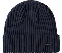 Herren   Mütze Wolle nachtblau