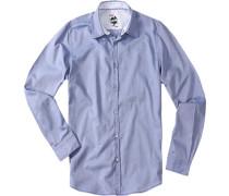Herren Hemd Oxford blau