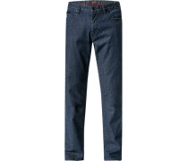 Herren Jeans Baumwoll-Stretch dunkelblau meliert
