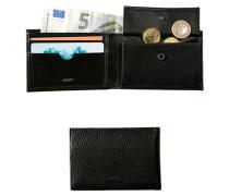 Herren Geldbörse Leder schwarz