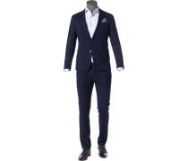 Anzug Extra Slim Fit Mikrofaser nacht