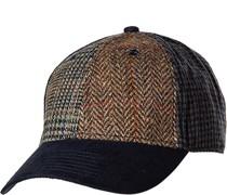 Cap Wolle -braun gemustert