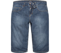 Herren Jeans Bermudas Baumwolle dunkel