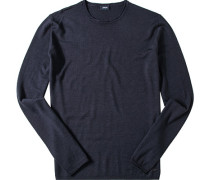 Herren Pullover Schurwolle nachtblau