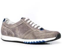 Herren Schuhe Sneaker Veloursleder grau grau,weiß