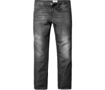 Herren Jeans Regular Fit Baumwollmischung schiefer