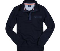 Herren Sweatshirt Baumwolle marine blau