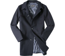 Herren Mantel Wolle dunkelblau