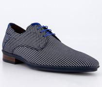 Schuhe Derby Kalbleder dunkel gemustert