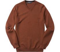 Herren Pullover Baumwolle zimtbraun