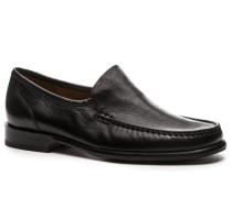 Herren Schuhe Mokassin, Nappaleder, schwarz