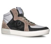 Herren Schuhe Sneaker Veloursleder-Textil blau-grau