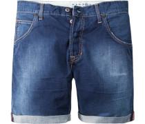 Herren Jeans-Shorts The Einstein, Relaxed Short, Baumwolle 8 oz, denim blau