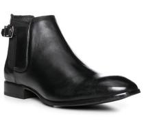 Herren Schuhe Chelsea Boots Leder schwarz