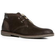 Herren Schuhe Desert Boots Kalbvelours dunkelbraun