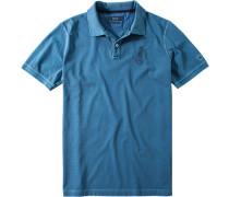 Herren Polo-Shirt Baumwoll-Jersey pastell meliert