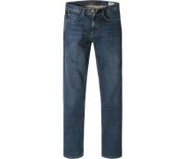 Herren Jeans Regular Fit Baumwoll-Stretch indigo