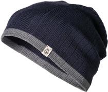 Herren Mütze, Baumwolle, navy blau
